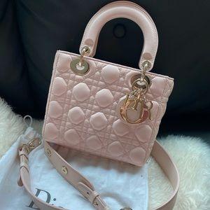 Lady Dior pink cream color